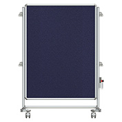 Ghent® Nexus Jr. Partition Reversible Mobile Fabric Tackboard Blue/Blue