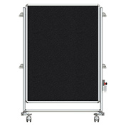 Ghent® Nexus Jr. Partition Reversible Mobile Fabric Tackboard Black/Black