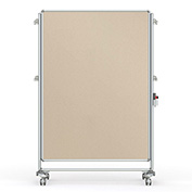 Ghent® Nexus Partition Reversible Mobile Fabric Tackboard Beige/Beige