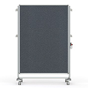 Ghent® Nexus Partition Reversible Mobile Fabric Tackboard Gray/Gray