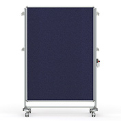 Ghent® Nexus Partition Reversible Mobile Fabric Tackboard Blue/Blue