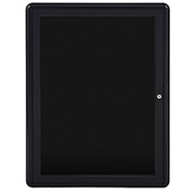 Ghent 1 Door Ovation Letter Board, Black w/Black Frame, 24-1/8
