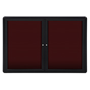 Ghent 2 Door Ovation Letter Board, Burgundy w/Black Frame, 46-7/8