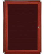 "Ghent® 1 Door Ovation Letter Board, Burgundy w/Cherry Chrome Frame, 24-1/8""w x 33-3/4""H"
