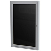 "Ghent® Outdoor Enclosed Satin Letter Board - 18""W x 24""H"
