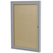 "Ghent® Outdoor Enclosed Satin Bulletin Board - 36""W x 36""H"