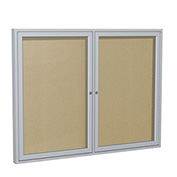 "Ghent® Outdoor Enclosed Satin Bulletin Board - 60""W x 48""H"