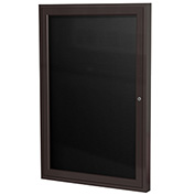 "Ghent® Outdoor Enclosed Bronze Letter Board - 18""W x 24""H"