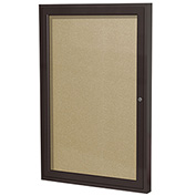 "Ghent® Outdoor Enclosed Bronze Bulletin Board - 18""W x 24""H"