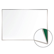 "Ghent® Porcelain Magnetic Renewal Whiteboard Silver Frame, 96-1/2""W x 48-1/2""H"