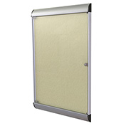 """Ghent® Silhouette Upscale Wall-Mounted Enclosed Bulletin Board, Caramel, 27-3/4""""W x 42-1/8""""H"""