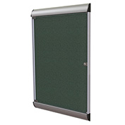 """Ghent® Silhouette Upscale Wall-Mounted Enclosed Bulletin Board, Ebony, 27-3/4""""W x 42-1/8""""H"""