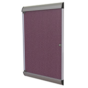 """Ghent® Silhouette Upscale Wall-Mounted Enclosed Bulletin Board, Berry, 27-3/4""""W x 42-1/8""""H"""