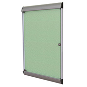 """Ghent® Silhouette Upscale Wall-Mounted Enclosed Bulletin Board, Mint, 27-3/4""""W x 42-1/8""""H"""