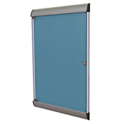 """Ghent® Silhouette Upscale Wall-Mounted Enclosed Bulletin Board, Ocean, 27-3/4""""W x 42-1/8""""H"""