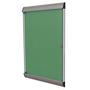 """Ghent® Silhouette Upscale Wall-Mounted Enclosed Bulletin Board, Spruce, 27-3/4""""W x 42-1/8""""H"""