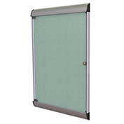 """Ghent® Silhouette Upscale Wall-Mounted Enclosed Bulletin Board, Stone, 27-3/4""""W x 42-1/8""""H"""