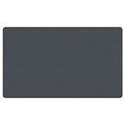"Ghent® Fabric Bulletin Board with Wrapped Edge, 24""W x 18""H, Gray"