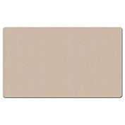"Ghent® Fabric Bulletin Board with Wrapped Edge, 46-1/2""W x 36""H, Beige"