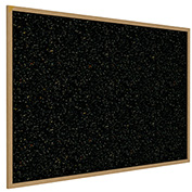 "Ghent® Recycled Rubber Bulletin Board, Oak Trim, 60-5/8""W x 48-5/8""H, Confetti"
