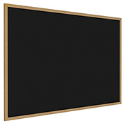 "Ghent® Recycled Rubber Bulletin Board, Oak Trim, 96-5/8""W x 48-5/8""H, Black"