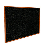 "Ghent® Recycled Rubber Bulletin Board, Cherry Oak Trim, 36-5/8""W x 24-5/8""H, Confetti"