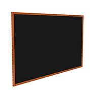 "Ghent® Recycled Rubber Bulletin Board, Cherry Oak Trim, 60-5/8""W x 36-5/8""H, Black"