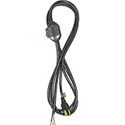 Carol 02053.70.01 12' Sjt Power Supply Replacement Cord W/ Switch, 18awg 10a/125v-Black