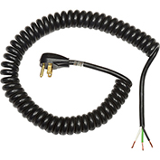 Carol 02551.70.01 12' Coiled Power Tool Extension/Power Supply Cord, 16awg 15a/125v-Black