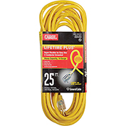 Carol 03390.63.05 25' Lifetime Plus  Super Flex  Lighted Ext. Cord/14awg 15a/125v Yellow