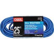 Carol 03660.63.07 25' All Weather Extension Cord, 14awg 15a/125v - Blue