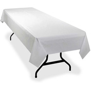 Genuine Joe Rectangular Table Cover, Plastic, 40