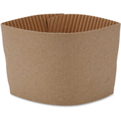 Genuine Joe GJO19049PK - Hot Cup Sleeves For 10-16 Oz. Cups, Brown, 50/Pack