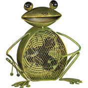 "Deco Breeze® Frog Figurine Fan, Metal, 15""L x 14-1/2""W x 15""H - DBF0361"