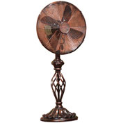 "Deco Breeze® Prestige Rustica Table Fan, Metal, 12""L x 12""W x 30""H - DBF0503"