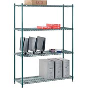 "Nexel® Green Epoxy Wire Shelving, 54""W X 18""D X 74""H"
