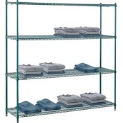 "Nexel® Green Epoxy Wire Shelving, 72""W X 18""D X 74""H"