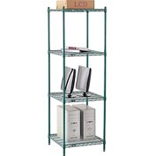 "Nexel® Green Epoxy Wire Shelving, 24""W X 24""D X 74""H"