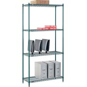 "Nexel® Green Epoxy Wire Shelving, 42""W X 18""D X 86""H"
