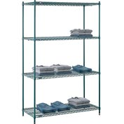 "Nexel® Green Epoxy Wire Shelving, 54""W X 24""D X 86""H"