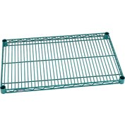 "Nexel® Green Epoxy Wire Shelf, 30""W X 18""D, With Clips"