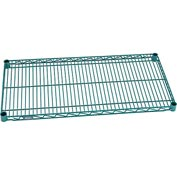 "Nexel® Green Epoxy Wire Shelf, 36""W X 18""D, With Clips"