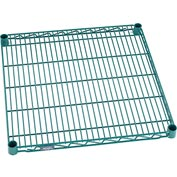 "Nexel® Green Epoxy Wire Shelf, 24""W X 24""D, With Clips"