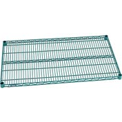 "Nexel® S2442G Green Epoxy Wire Shelf 42""W X 24""D with Clips"