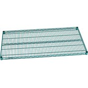 "Nexel® S2448G Green Epoxy Wire Shelf 48""W X 24""D with Clips"