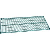 "Nexel® S2454G Green Epoxy Wire Shelf 54""W X 24""D with Clips"