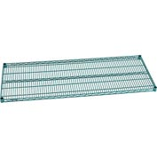 "Nexel® S2460G Green Epoxy Wire Shelf 60""W X 24""D with Clips"
