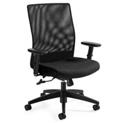 Global™ Weev Medium Mesh Back Tilter Chair Black with Black Coal Fabric Seat