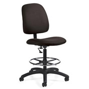 Global™ Goal - Drafting Chair - Asphalt (Black)
