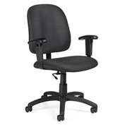 Global™ Task Chair with Arms - Fabric - Low Back - Stone - Goal Series
